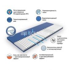 Антибактериальный противопролежневый медицинский матрас Antibacterial Silver Classic 1950*85*10 см